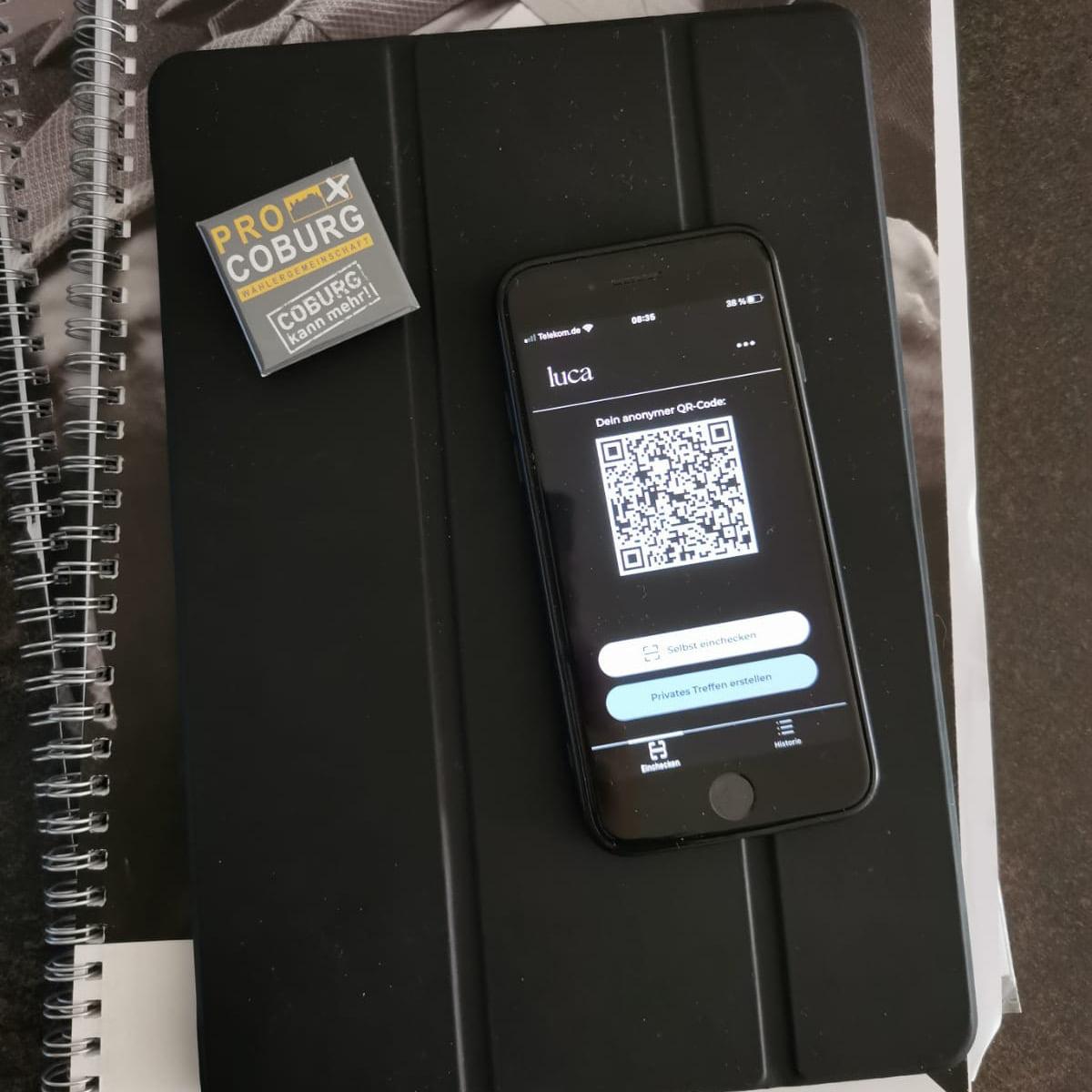 Coburg soll Testregion der Luca-App werden!