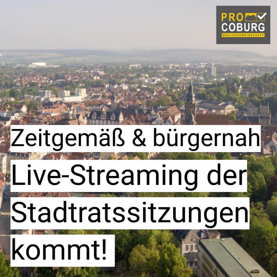 Streaming: Stadtrat macht den Weg frei!