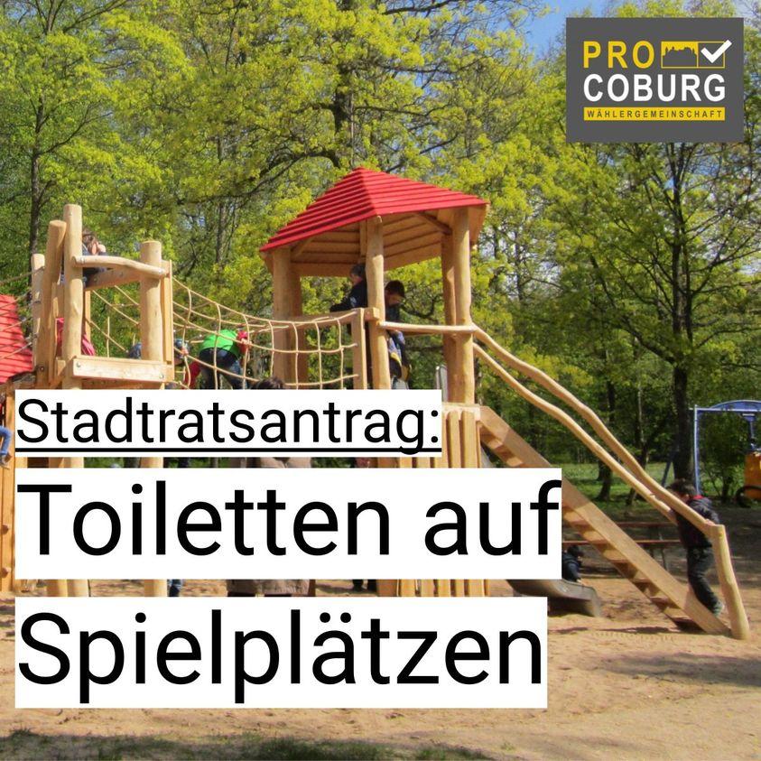 Öffentliche Toiletten auf Spielplätzen